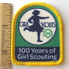 Girl Scout 1912-2012 100th Year ANNIVERSARY PATCH Running In Khaki Uniform NEW