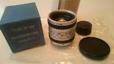 TOKINA TELEVISION LENS 8MM F1.3 1:1.3 - NEW OLD STOCK!