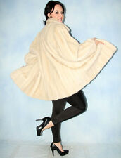 1477 AMAZING REAL MINK COAT MINK FUR JACKET SWINGER НОРКА BEAUTIFUL LOOK SIZE L