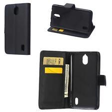 Huawei Y625 BOOK-STYLE HANDY TASCHE schwarz FLIP CASE COVER SCHUTZ HÜLLE ETUI