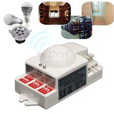 New 220V/240V Microwave Motion Detector Radar Sensor LED Light Switch 5.8GHz