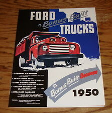 1950 Ford Bonus Built Trucks Foldout Sales Brochure 50