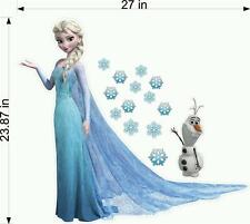 FROZEN Elsa & Olaf Fathead Wall Stickers Decal Kids bedroom decor 3D gifts