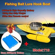 T10 RC Bait Boat Hook Fishing Boat Anti Grass Wind+High Capacity 9600mAh Battery