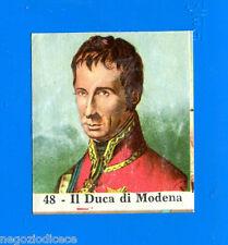 CENTENARIO UNITA D'ITALIA - Figurina-Sticker n. 48 - IL DUCA DI MODENA -Rec