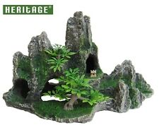 HERITAGE HB026 AQUARIUM FISH TANK STEPPED ROCK FORMATION CAVE ORNAMENT 24CM
