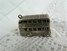 Traditional Sterling Silver Charm, Rare Large Bus Advertising Chim Charms