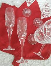 Lot of 7 Royal Doulton Crystal Fluted Champagne Glasses ELIZABETH 1997