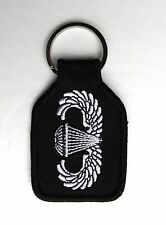 US ARMY AIRBORNE PARA PARATROOPER EMBLEM LOGO EMBROIDERED KEY CHAIN KEY RING