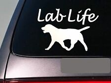 "Lab life 6"" sticker *E751* labrador retriever decal vinyl black lab duck hunting"