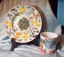 Tiffany Playground Child's Porcelain ` Plate and Cup by Tiffany&Co. 1992