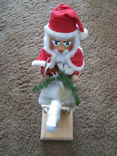 "Steinbach Rocking Horse Santa Claus 15"" Nutcracker-Authentic-pre-owned-Stamped"