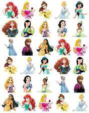 Disney Princess Half Body Cupcake Toppers Edible Wafer Paper BUY 2 GET 3RD FREE