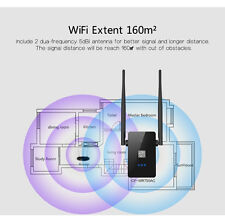 750Mbps Dual Band Wireless Repeater 802.11AC Router WiFi Range Extender EU Plug