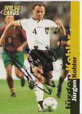 Jürgen Kohler DFB WM 1998 Panini Cards TOP Orig. Sign. +A27612