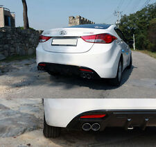 Rear Bumper DIFFUSER Glossy Black For 2011-2013 Hyundai Elantra : Avante MD