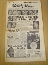 MELODY MAKER 1954 OCTOBER 16 ROYAL VARIETY JACK PARNELL TED HEATH BING CROSBY