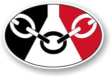 West Midlands Oval Design With Black Country Flag Dudley vinyl car sticker Decal