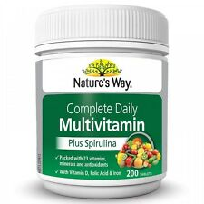 Nature's Way Complete Daily Multivitamin 200 Tablets Vitamins Minerals Health