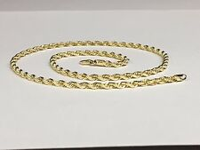 "14KT Solid Gold Diamond Cut Rope Chain Necklace 24"" 4 mm 23 grams (R030)"
