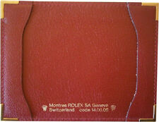 Authentic Vintage Rolex Red Leather Notepad Card Holder Wallet 14.05.05