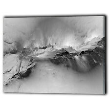 Abstract Canvas Framed Black & White Panel - New Wall Art Prints - Ready To Hang