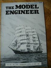 MODEL ENGINEER 2396 24 APRIL1947 STIRLING CHIMNEY ELECTRIC SCREWDRIVER LADY ANNA