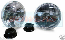 "LUCAS P700 7"" INCH TRIPOD TRI-BAR HEADLAMPS HEADLIGHTS HALOGEN H4 CONVERSION"