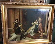 Mid-19th Cent. Italian Oil on Panel - Musicians/Royalty signed Andrei di Pontes
