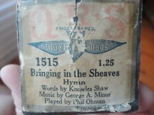 Player Piano Roll Bringing In The Sheaves Hymn 1515 Vintage