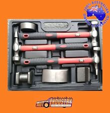 7 PCE HAMMER & DOLLY PANELBEATING KIT AUTO BODY PANEL BEATING REPAIR KIT IN CASE