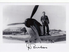 WWII WW2 RAF Fighter Command Spitfire FREEBORN DFC*aircraft wing signed photo