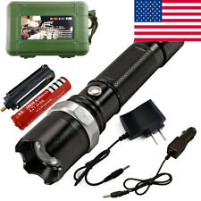 3W Rechargeable Flashlight Tactical Police Heavy Duty Outdoor Sports Camping