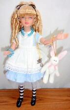 "Classic Alice in Wonderland OOAK Tonner 12"" Doll BONUS Plush Rabbit Original Box"