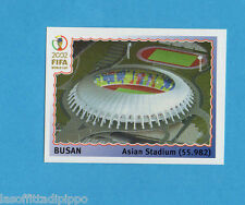 KOREA/JAPAN 2002-PANINI-Figurina n.6- BUSAN ASIAN STADIUM -NEW BLACK BACK