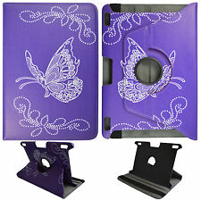"For Kindle Fire HDX 8.9""  4th  Gen Purple Butterfly PU Leather Case Cover O3"