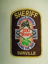 Vintage 1993 200 Years Anniversary of Danville VA Sheriff Train Iron On Patch