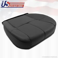 2007 to 2012 Chevy Silverado Driver Bottom Leather Seat Cover Black