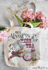 Alice nel Paese delle Meraviglie Mad Hatter Canvas Tote Shopping bag shopper per la vita aw04