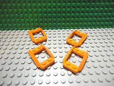 Lego 4 Orange 2x4 open mudguard car truck