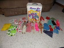 Lot of Vintage Mattel Barbie & Ken Dolls With Clothes and Furniture