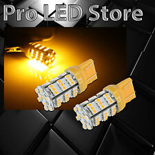 2X 7443/7440 54SMD Chip LED Amber Yellow Turn Signal Blinker Lights bulbs