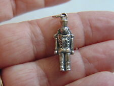 Vtg 925 STERLING Silver Nutcracker Charm CHRISTMAS TOY SOLDIER PENDANT Made USA