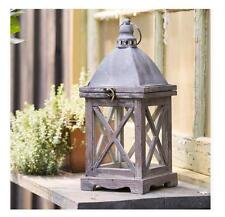 Wooden Petite Stable Lantern ~Candle Holder~ Pottery Vintage Barn Style