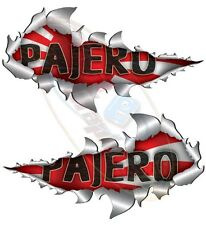Large Size Pajero Metal Rip Open Sticker 4X4 Race Car Truck Van Off-Road
