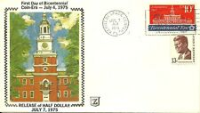 BICENTENNIAL ERA, INDEPENDENCE HALL PHILADELPHIA, 7/7/75 RELEAE OF HALF DOLLAR