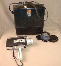 Canon Zoom 518 SUPER 8 Film Camera 9.5-47.5mm 1:1.8 Lens C-8 Tele Converter 1.6x