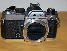 NIKON FM 35mm SLR CAMERA BODY ONLY - USED