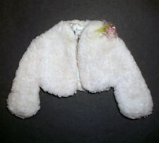 Vintage Barbie doll clothes: 'Going to the Ball' white fur jacket + CORSAGE 1964
