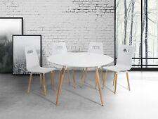 Tisch, Esszimmertisch, Esstisch, Küchentisch, Wohnzimmertisch, Weiss, 120 cm